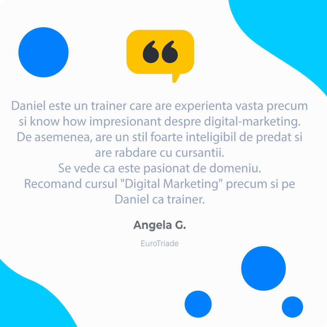 Angela-G Digital Marketing Testimonial