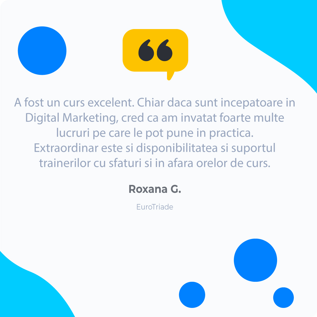 Roxana-G Digital Marketing Testimonial