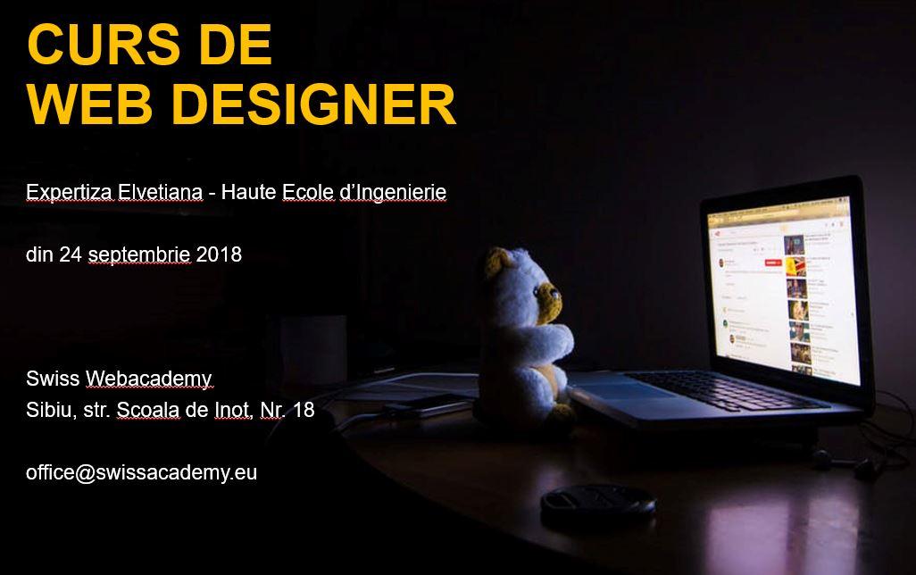 Curs de Web Designer – din 24 septembrie 2018