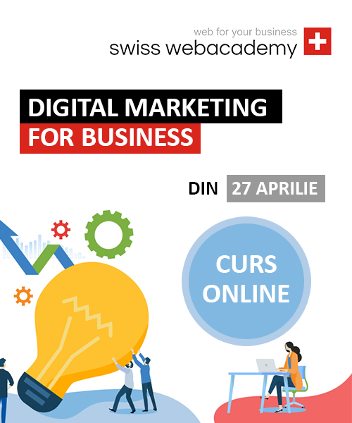 Digital Marketing for Business – din 27 aprilie 2020 – ACUM ONLINE