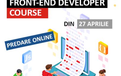 Front-end Developer – din 27 aprilie 2020 – ACUM ONLINE