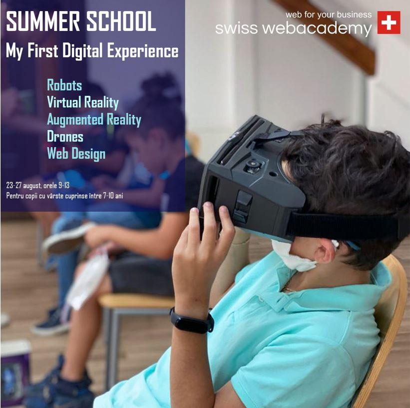 """""""My First Digital Experience"""" – un program Summer School pentru cei mici."""